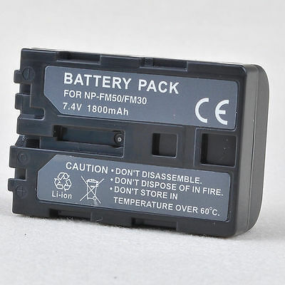 New Li-Ion Battery for Sony Handycam NP-FM50 NP-FM30 NPFM50 NP-FM55H
