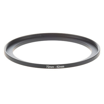 Camera Parts 72mm to 82mm Lens Filter Step Up Ring Adapter Black J4S2
