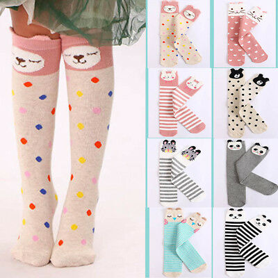 Lovely Baby Toddler Girl Boy Soft Leggings Warmer Leg Warmers Knee Long Socks AU