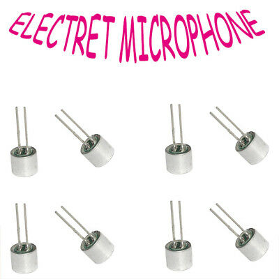 Diameter 6~9.7mm with Pins Built-in Condenser Mic head Electret Microphone