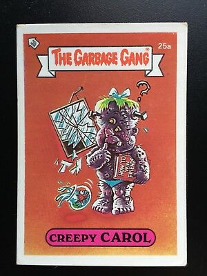 #25a 1986 The Garbage Gang Pail Kids Series 1 Australia Set Card
