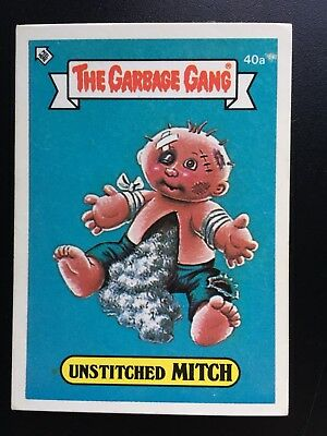 #40a 1986 The Garbage Gang Pail Kids Series 1 Australia Set Card
