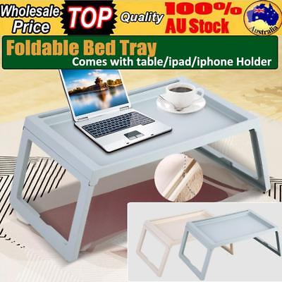 Foldable Bed Sofa TRAY Breakfast Laptop Desk Tea Serving Table Stand Dinner Hold