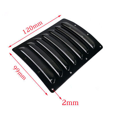 2pcs 120×99×0.5mm Aluminum Heat Sinks Cooling Fin Vents for RC Plane Cowl Black