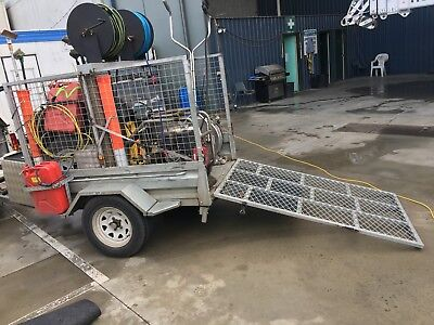 Galvanised 6 x 4 Cage Trailer with Ramp - Used