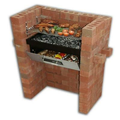 built in grill oven brick stone bbq diy kit charcoal. Black Bedroom Furniture Sets. Home Design Ideas