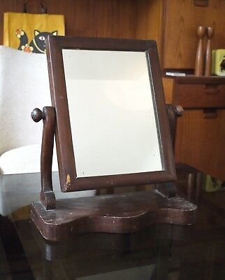 Late Victorian or Edwardian vanity dressing table or shaving mirror.