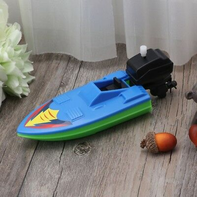 Baby Kids Wind Up Clockwork Boat Ship Toys Bath Toy Play Water Bathroom Toy