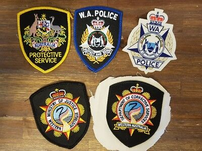 WEST AUST - Selection of Police, Corrective & Justice Dept PATCHES & STICKER