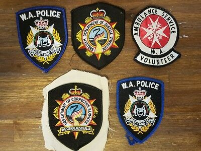 WEST AUST - Selection of Police Corrective & Justice Dept and Ambulance PATCHES