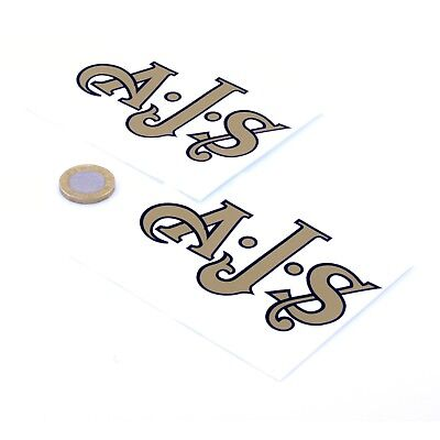 AJS Motorcycles Badge Sticker Decal Vinyl Motorbike STICKERS 100mm x2