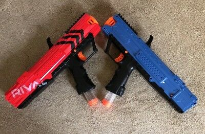 2 Nerf Rival Apollo Xv-700 Blasters (Red & Blue)