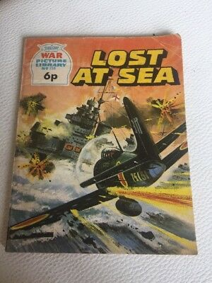 Vintage Lost At Sea War Picture Library No 759