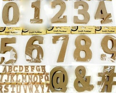 NEW 15cm Wooden Letter Words MDF Wooden Brown Letters&Alphabet Craft Home Decor