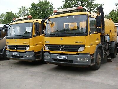 2008 Johnston Vt650 Road Sweeper On 13 Ton Mercedes Chassis