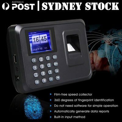 Time Recorder Clocking Attendance in USB clock Machine Fingerprint + Password OZ