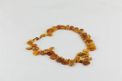 Beautiful Vintage Creamy AMBER Beaded Necklace -121g