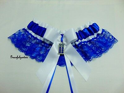 Doctor Who Tardis Lace Bridal Wedding Garter. timelord. dalek