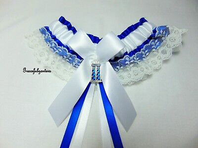 Plus Size Doctor Who Lace Bridal Wedding garter. Tardis. Dalek. Dr Who