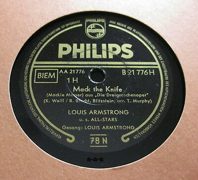 Louis Armstrong - Mack The Knife (Mackie Messer) / Back O'Town Blues PHILIPS
