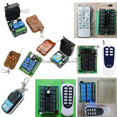1/2/4//6/8/12/15 Channel DC 12V Wireless RF Remote Control Transmitter+ Receiver