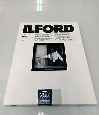 Ilford Multigrade IV RC Deluxe Pearl Photographic Paper 12x16 inches 50 sheets
