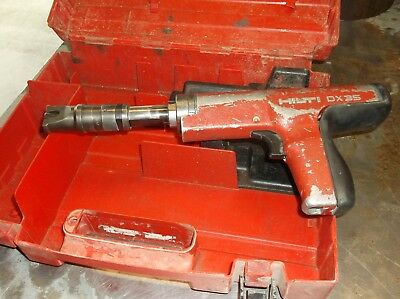 Hilti DX-35 Powder Actuated Tool W/Case Fully Tested & cleaned  free shipping