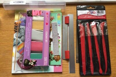 Polymar Clay bundle Book And Tools Plase See Descriptin And Pictures Ideal Start