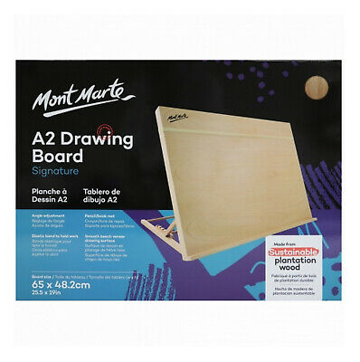NEW Mont Marte A2 Drawing Board with Elastic Band Folded Beech Wood Art Supply
