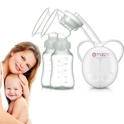Electric Breast Pump Mute Automatic Dual Breastpump Baby Infant Feeding With USB