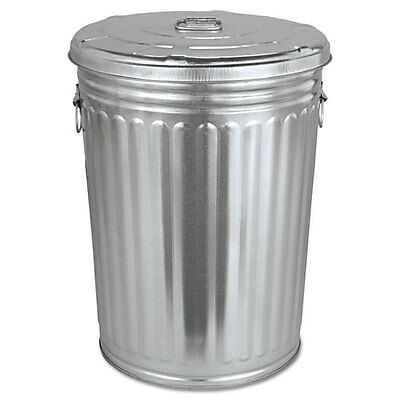 Magnolia Brush Pre-Galvanized Trash Can With Lid Round Steel 20gal Gray
