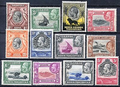 KUT 1935 issue, SG 110 -121, Mint Never Hinged CV £100