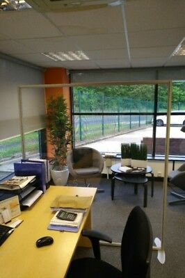 Clear Perspex Office Divider Screens x 5