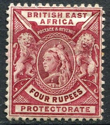 British East Africa 1896, SG 78, 4 Rupees Carmine Lake, Mint Hinged, CV £70