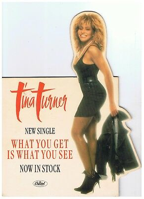 Tina Turner What You Get is What You See UK Original Standee Unused 21 x 27.5cm
