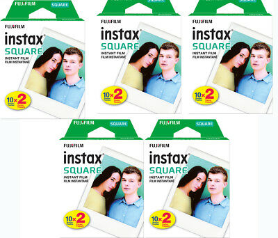 100 Prints Fujifilm instax SQUARE Instant Film for Fuji SQ10 , SQ6 Camera & SP-3