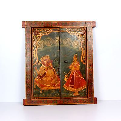 Wooden Handcrafted Scenery Beautiful Hand Painted Picture Wall Window 1490