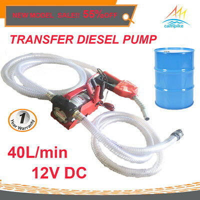 CAMPIKE 12V DC Electric Bowser Oil Transfer Pump Auto Diesel Water BioDiesel Fue