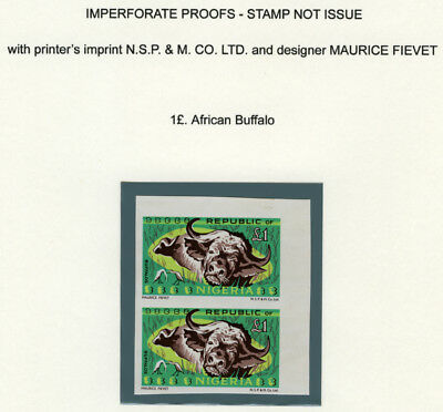 Nigeria 1969-72 ***imperf Proof*** Not Issue 1£. African Buffalo, Wildlife