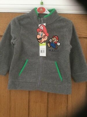 New With Tags Boys Light Weight Jacket Age 23 Months Theme Super Mario