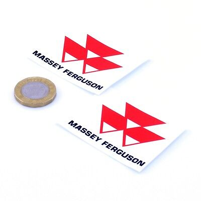 Massey Ferguson Badge Sticker Decal Vinyl 50mm x2 Tractor Farming