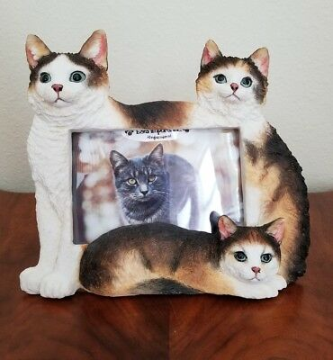 "Calico Cat Picture Frame for a 4"" X 6"" Photo"