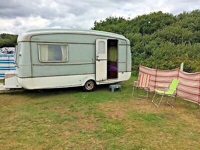 Rare Vintage 1960's Viking Fibreline 4 Berth Caravan Restoration Repair Project