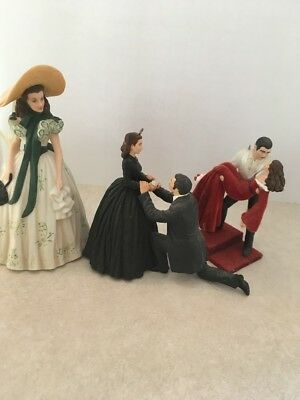 Gone With The Wind Ornament Lot Of 3