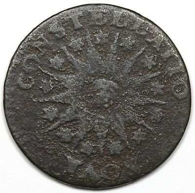 1785 Nova Constellatio Copper, Pointed Rays, VG detail