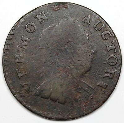 1788 Vermont Copper, Bust Right, F detail