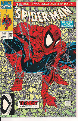 Spider-Man #1 NM- 1990 Green Cover Variant Marvel Comics Todd McFarlane