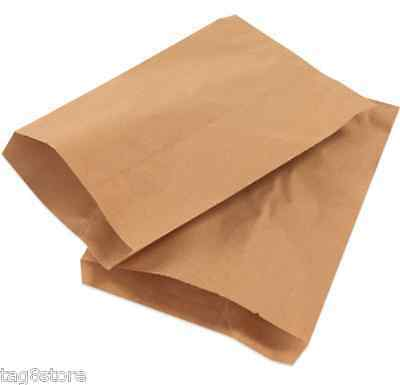 50 Lot 8 ½x11 BROWN Flat Paper Bag Merchandise KRAFT Party Favor TREAT Gift Wrap