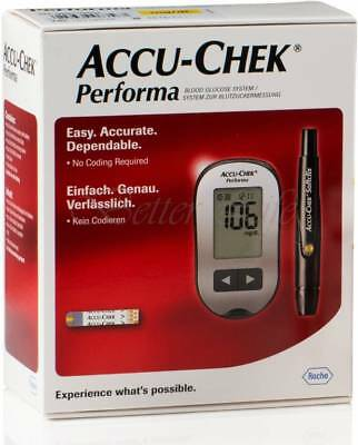 Accu-Chek Performa Blood Glucose Meter Sugar Monitoring System Kit With Strips