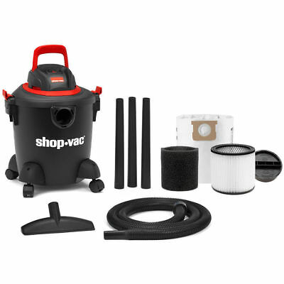Shop-Vac 5 gallon Wet/Dry 2.5 Peak Vacuum Powerful Cleaner With Attachments Kit